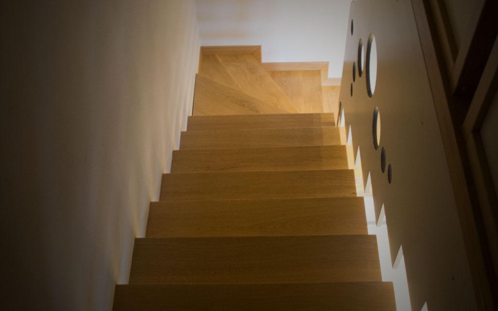 Scale in legno artigianali falegnameria samuelli dello - Scale di casa ...