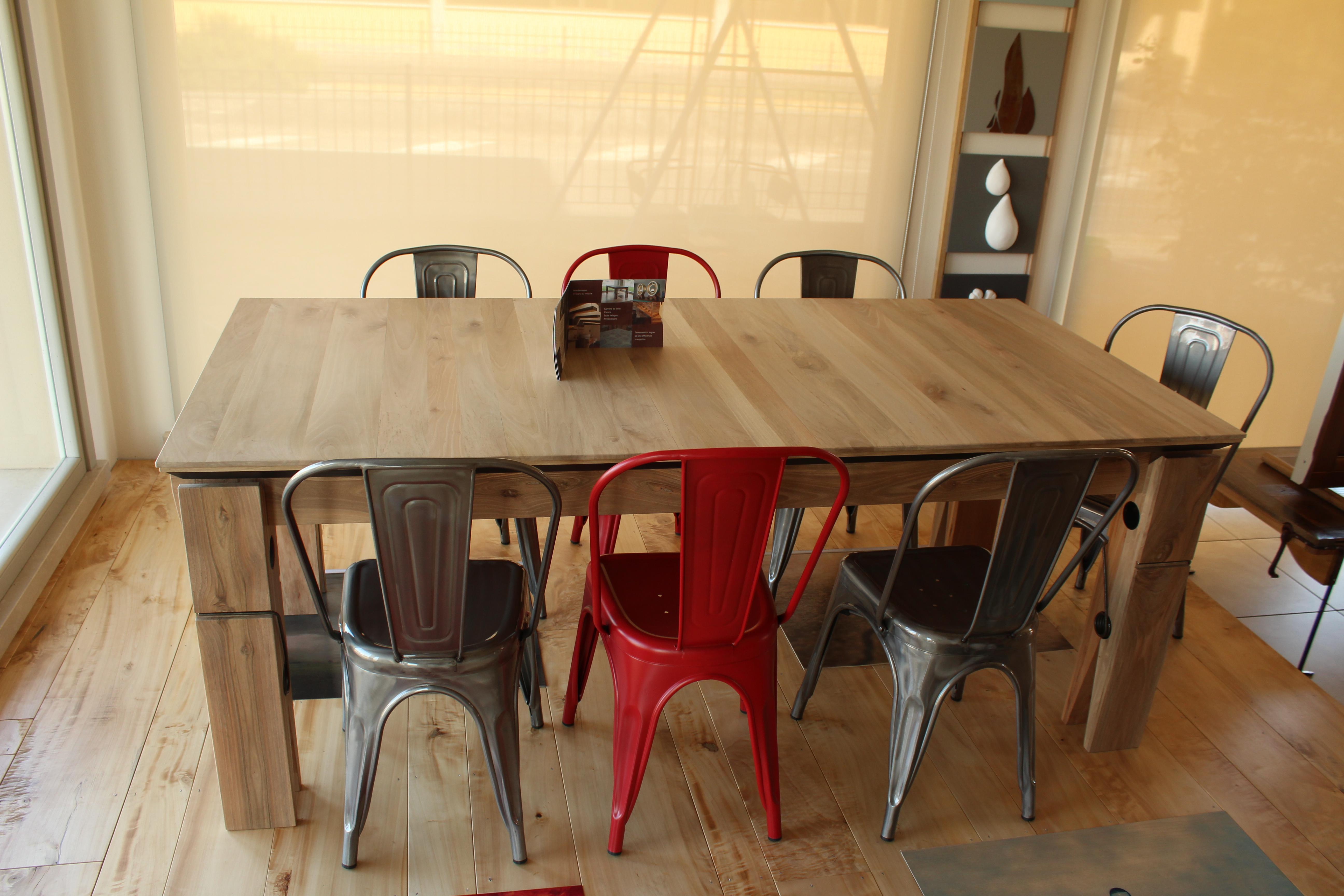 Sedie Per Tavolo Legno Massello sedie e tavoli in legno - falegnameria samuelli - dello brescia